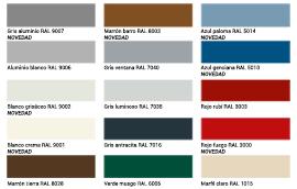 Colores de las puertas Thermopro