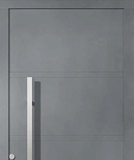 Hoja sin perfil de las puertas de aluminio