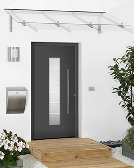 Puertas de entrada de aluminio hormann aradock for Puertas exterior modernas aluminio
