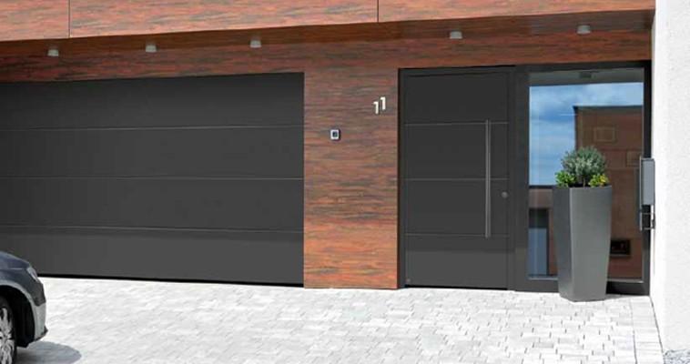 Puertas de entrada de aluminio hormann aradock for Puertas de calle aluminio precios