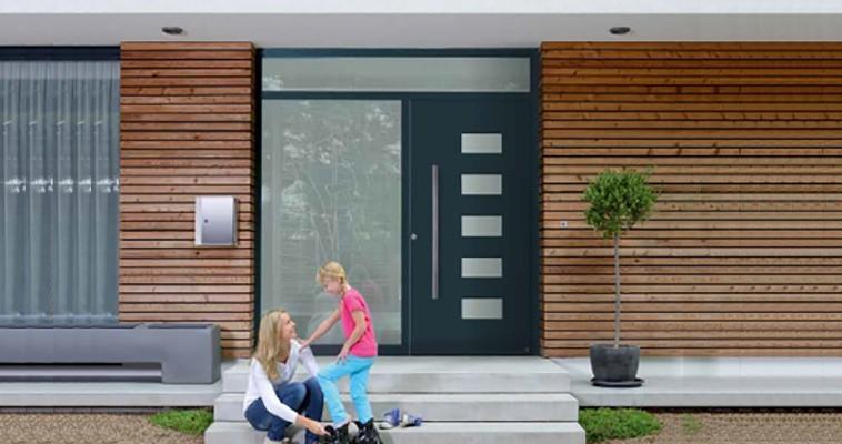 Puertas de entrada de aluminio hormann aradock - Puertas de entrada de aluminio modernas ...